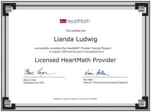 Certificate from HeartMath