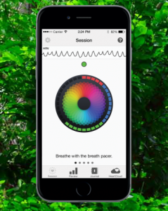 Inner Balance stress relief biofeedback type of device for iPhone