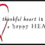 heart with meme thankful heart is a happy heart